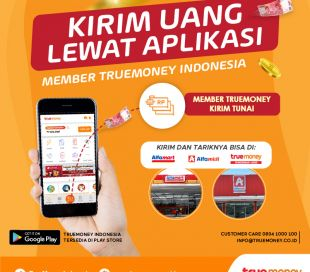 Send Cash From the TrueMoney Indonesia MEMBER Application