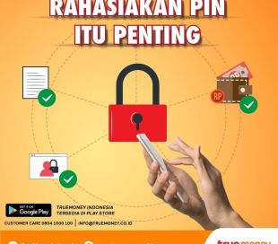 Secret PIN for the security of your transactions on the TrueMoney Indonesia application