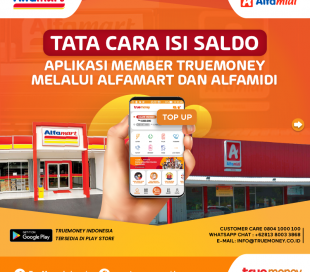 Top Up balance of the TrueMoney Indonesia application at Alfamart/Alfamidi Member