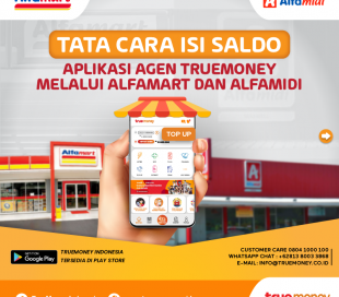 Top Up the balance of the TrueMoney Indonesia application through Alfamart / Alfamidi (AGENT)