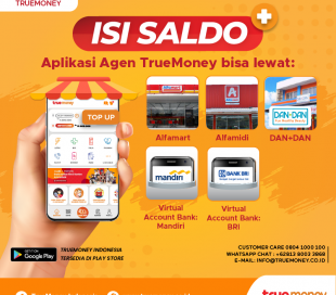 Top up balance TrueMoney Indonesia application (AGENT)