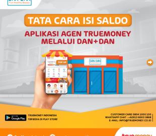 Isi Saldo Aplikasi TrueMoney Indonesia melalui Toko DAN+DAN (AGEN)