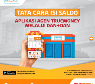Top Up balance of the TrueMoney Indonesia application through the DAN + DAN Store  (AGENT)