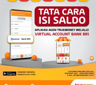 Isi Saldo Aplikasi TrueMoney Indonesia melalui VA Bank BRI