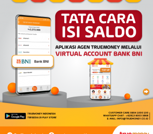 Top Up balance of the TrueMoney Indonesia application through VA Bank BRI
