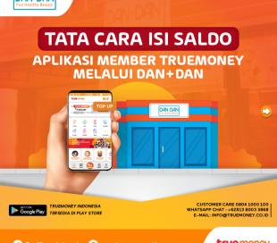 Top Up balance of the TrueMoney Indonesia application through the DAN + DAN Store (MEMBER)