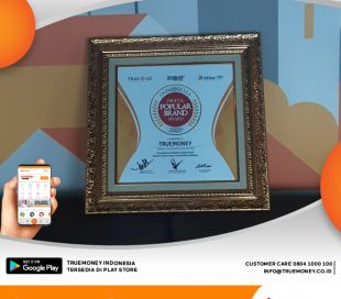 TrueMoney Indonesia won the Indonesia Digital Popular Brand Award 2020
