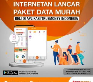 Internetan Lancar ,Paket Data Murah  Beli di APlikasi TrueMoney Indonesia