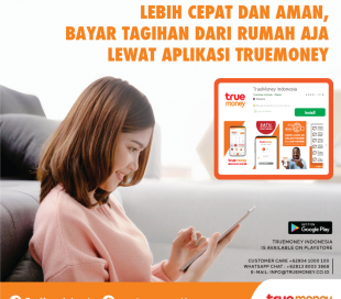 Paying bills faster and safer from home, through the TrueMoney application