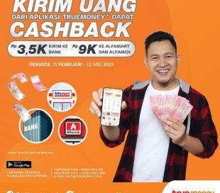 Kirim Uang Dari Aplikasi TrueMoney Indonesia*, Dapatkan Cashback !