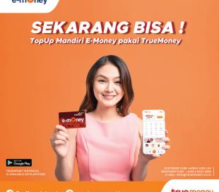 Top Up Mandiri e-Money Pakai Aplikasi TrueMoney Indonesia