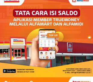 Isi Saldo TrueMoney Indonesia Lewat  Alfamart/Alfamidi