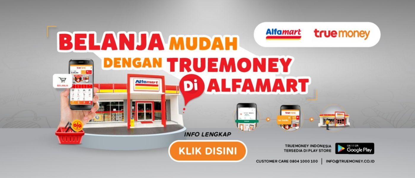BELANJA MUDAH DENGAN TRUEMONEY DI ALFAMART