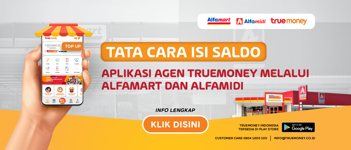 Top Up balance of the TrueMoney Indonesia application at Alfamart/Alfamidi (AGENT)