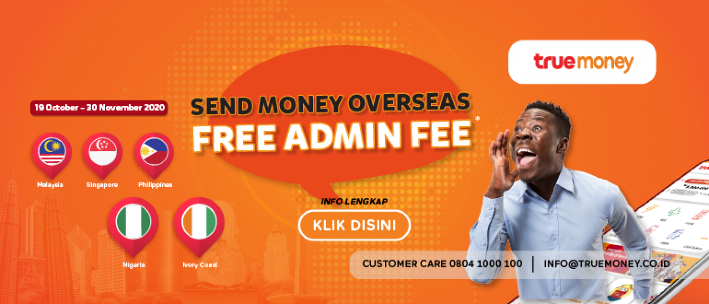 Send Money Overseas Free Admin Fee