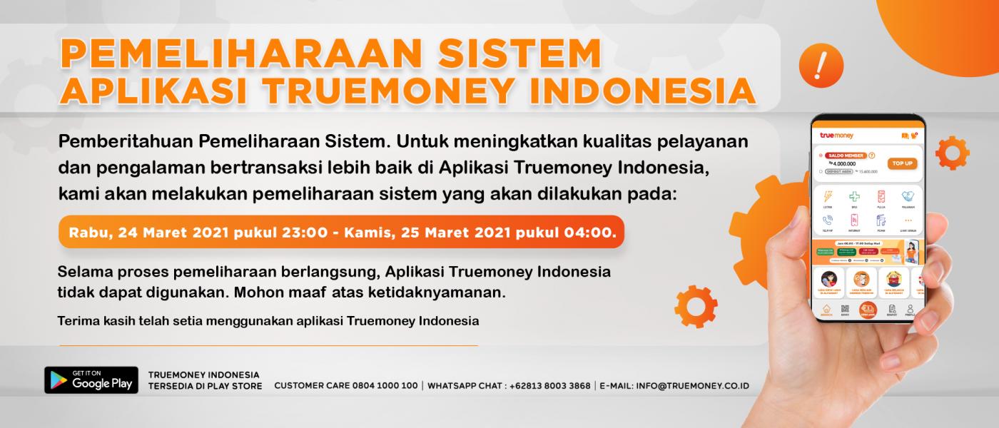 Maintenance Truemoney Indonesia Application System