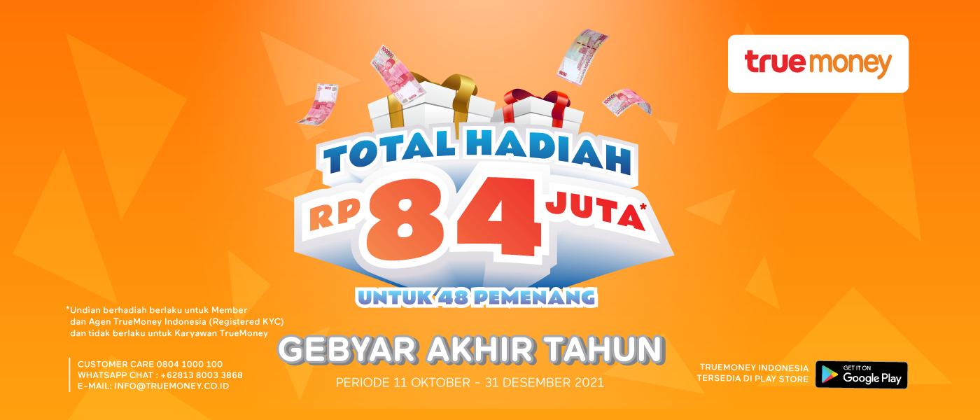 Gebyar Akhir Tahun, Raih Hadiah Total Hadiah 84Juta untuk 44 Pemenang!
